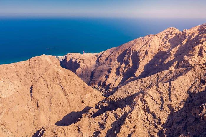 Hadschar-Gebirge-Küste-Ausblick-Oman