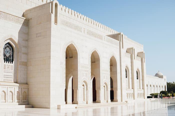 Große-Sultan-Qaboos-Moschee-Details-Fassade-Oman