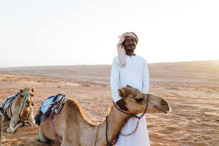 Camel Guide with Camels