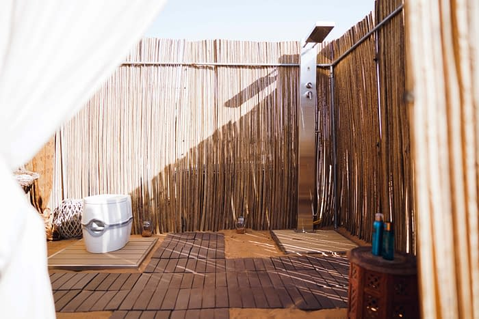 Canvas Club Outdoor Bathroom