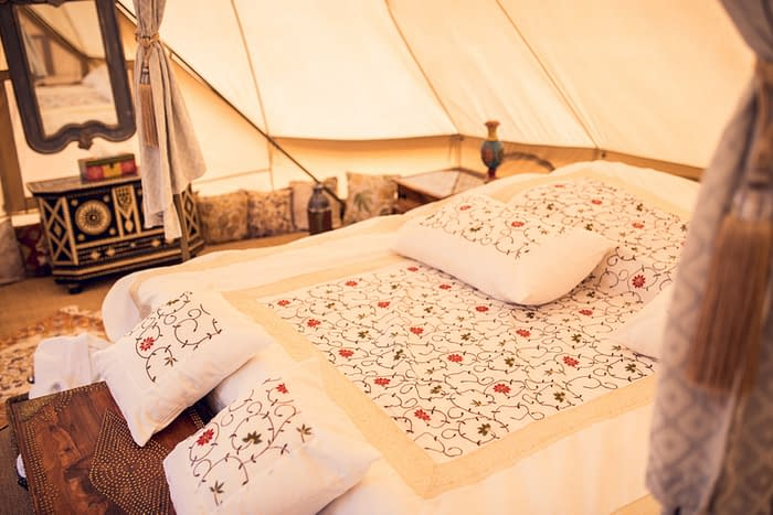 Canvas Club Tent Bedding Details