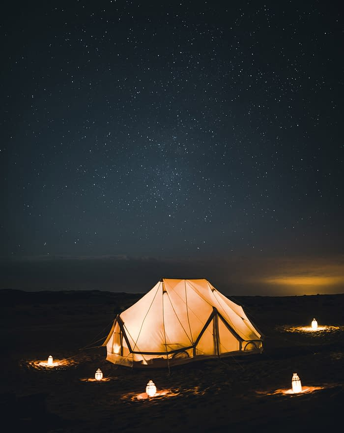 Tent at Night in the Desert