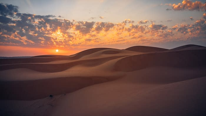 Dunes in the Wahiba Desert