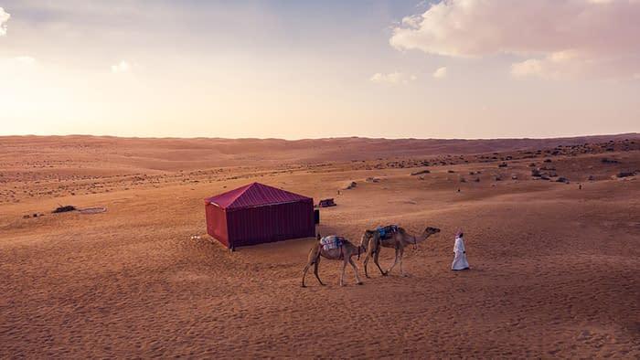 Majilis Tent at Sunset