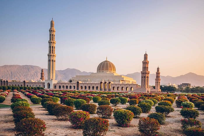 Sultan Qaboos Grand Mosque in Muscat