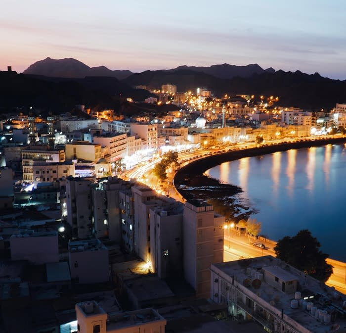 Muscat's Corniche at Night