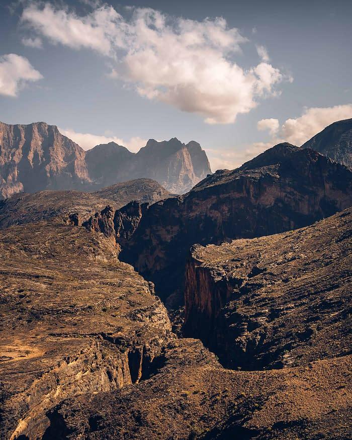 Hadschar-Gebirge-Panorama-Oman